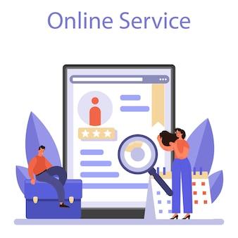 Serviço ou plataforma online de recursos humanos