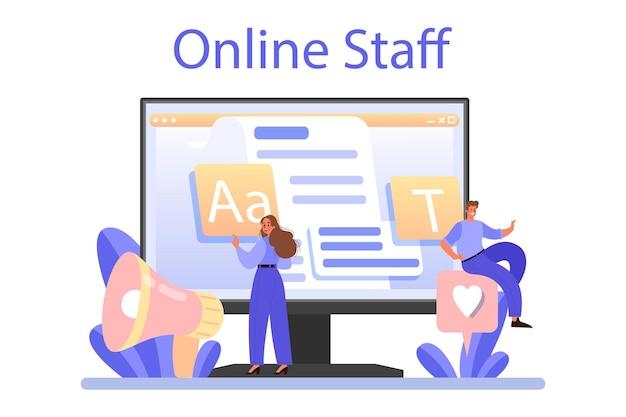 Serviço ou plataforma online de redação de voz Vetor Premium