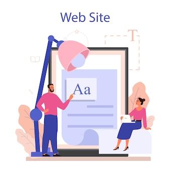 Serviço ou plataforma online de redator.