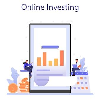Serviço ou plataforma online de reinvestimento de lucros.
