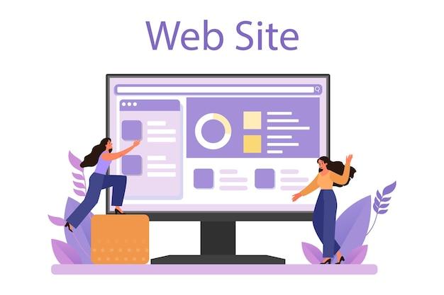 Serviço ou plataforma online de relações corporativas. ética de negócios.