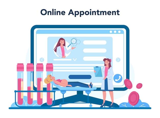 Serviço ou plataforma online de reprodutologista.