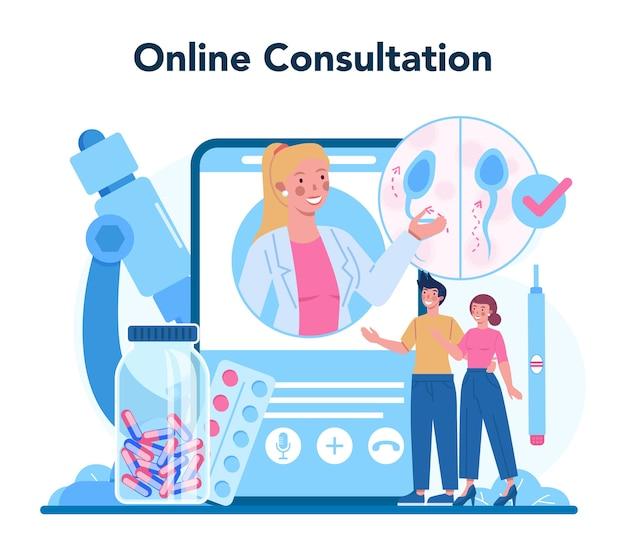 Serviço ou plataforma online de reprodutologista