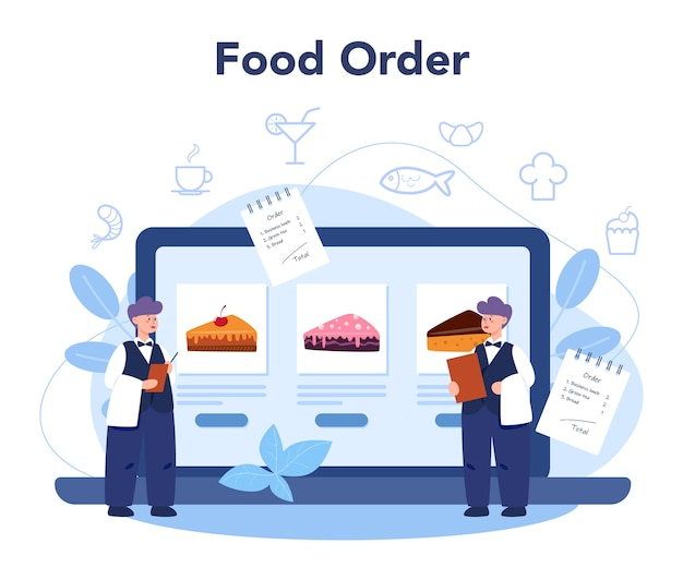 Serviço ou plataforma online de restaurante