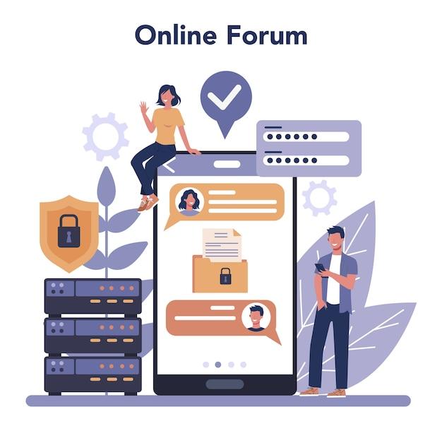 Serviço ou plataforma online de segurança cibernética ou da web