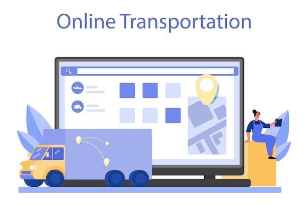 Serviço ou plataforma online de serviço de logística e entrega