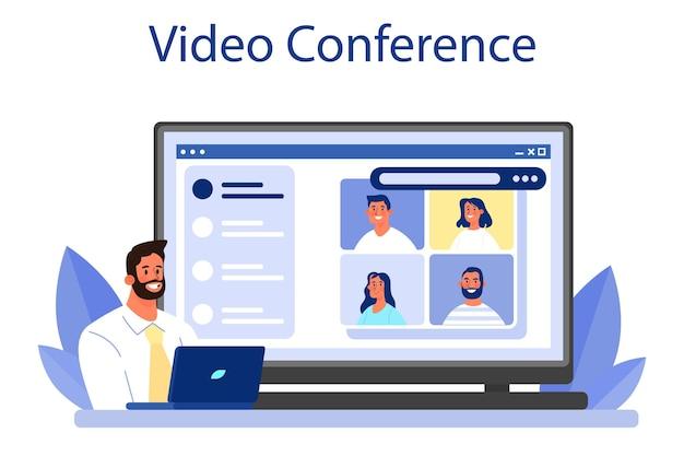 Serviço ou plataforma online de trabalho comunitário. consolidação de equipe
