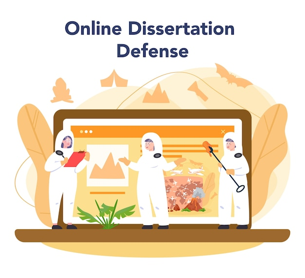 Serviço ou plataforma online de vulcanologista