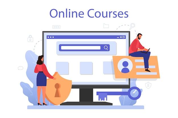 Serviço ou plataforma online especializado em segurança cibernética ou da web