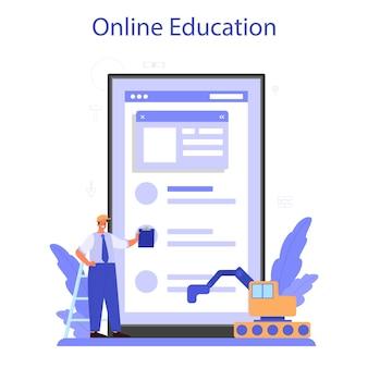 Serviço ou plataforma online foreman