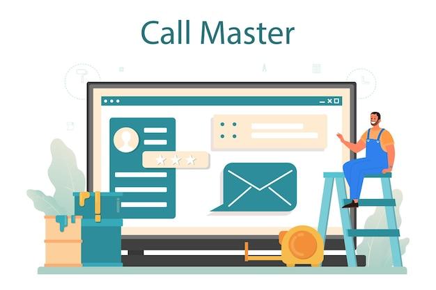 Serviço ou plataforma online mestre doméstico