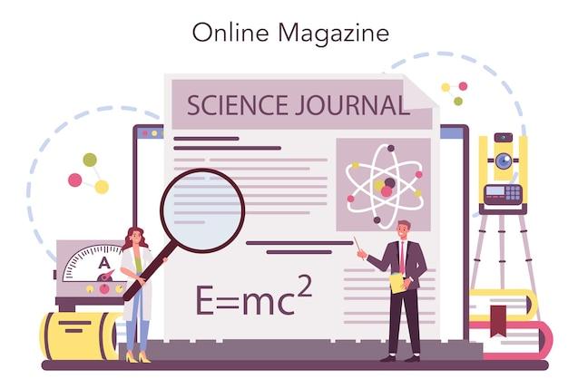 Serviço ou plataforma online para físicos