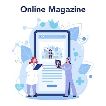 Serviço ou plataforma online para médicos