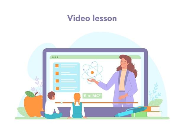 Serviço ou plataforma online para professores. professor dando uma aula online