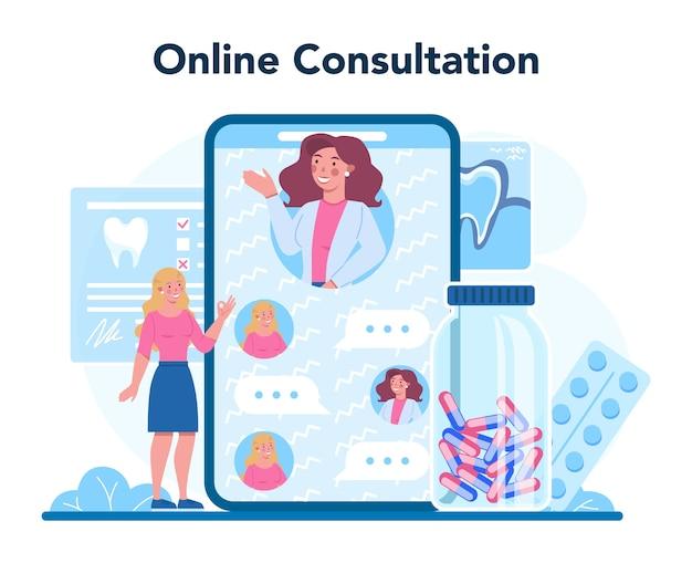 Serviço ou plataforma online para profissão de dentista
