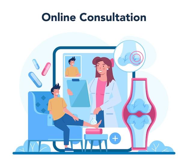Serviço ou plataforma online para traumatologista