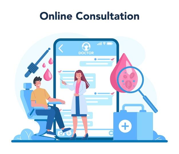 Serviço ou plataforma online para venereologistas.