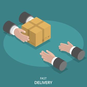 Serviço rápido de entrega de mercadorias.