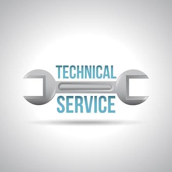 Serviço técnico sobre ilustração vetorial de fundo cinza