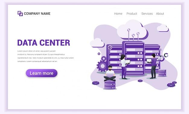 Serviços de data center para o modelo da página de destino.