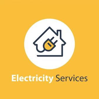 Serviços de eletricidade