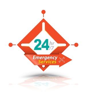 Serviços de emergência square arrow 24h