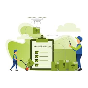 Serviços de entrega de pacotes expressos usando drones