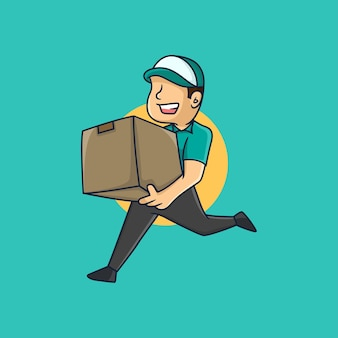 Serviços de entrega encomenda caixa de remessa encomenda online