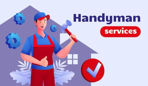 Serviços de faz-tudo e conserto doméstico