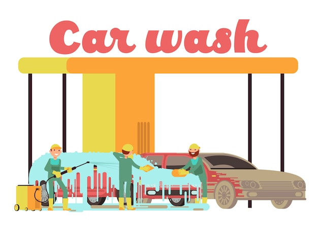 Serviços de lavagem de carro marketing promocional de fundo vector