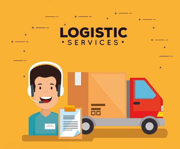 Serviços de logística com agente de suporte