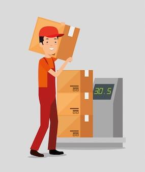 Serviços de logística com entregador