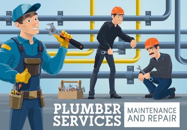 Serviços de manutenção e reparo de encanador