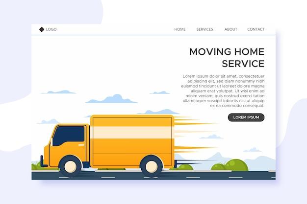 Serviços de mudança de casa - página de destino