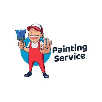 Serviços de pintura escova de rolo para conserto de casas