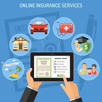Serviços de seguros online