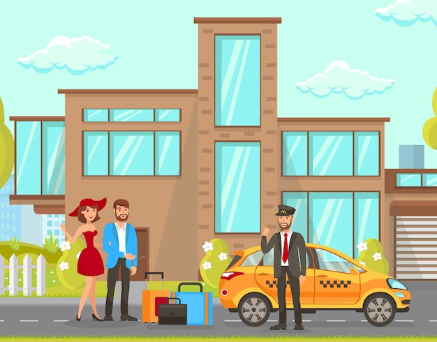 Serviços de táxi e motorista