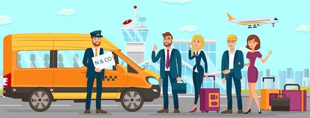 Serviços de táxi no aeroporto