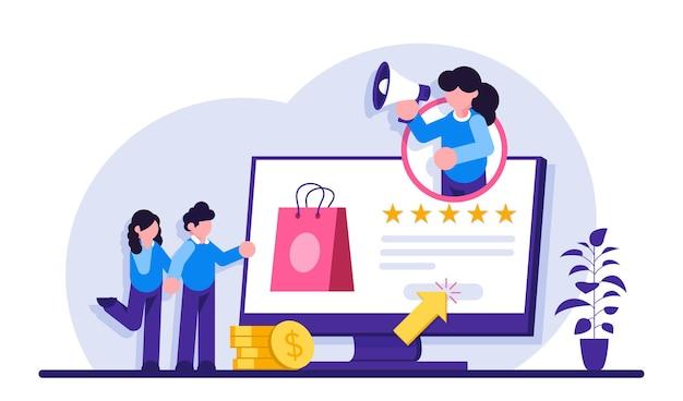 Serviços de vendedor online. compras online. marketing e marketing digital.