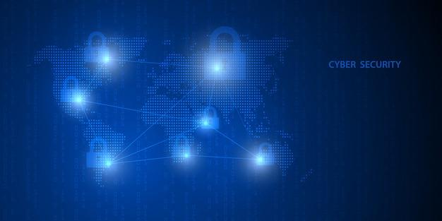 Serviços futuros da tecnologia cibernética. segurança cibernética e proteção de informações ou de rede.