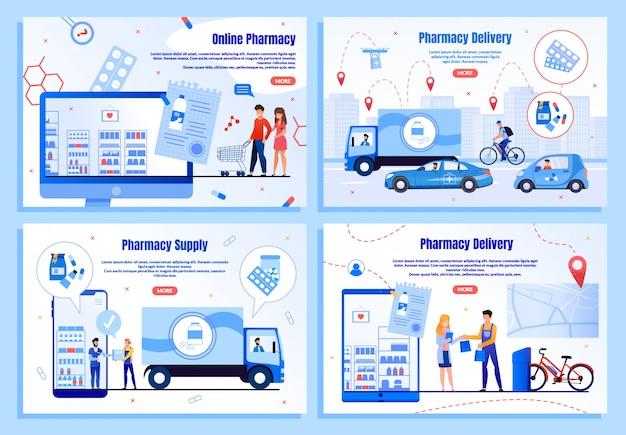Serviços modernos de entrega de farmácias