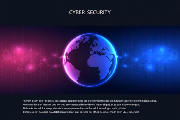 Serviços web de tecnologia cibernética futura para negócios e projeto de internet.