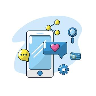 Servidor de conexão de aplicativos de tecnologia smartphone