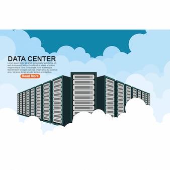 Servidor de hospedagem de conexão de computador em nuvem de data center