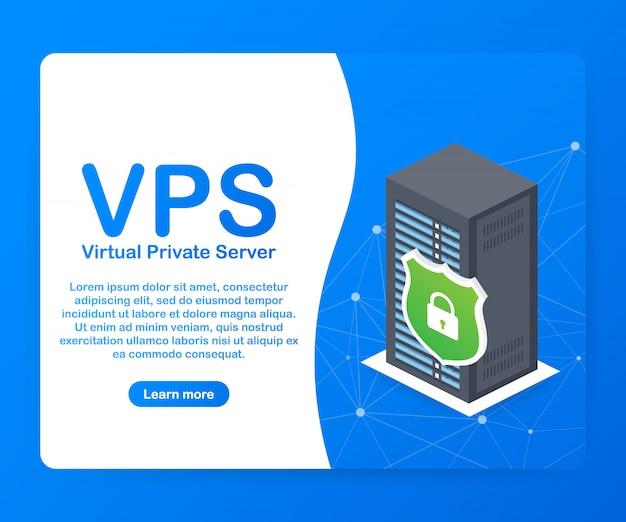 Servidor virtual privado vps, tecnologia de infraestrutura de serviços de hospedagem na web.