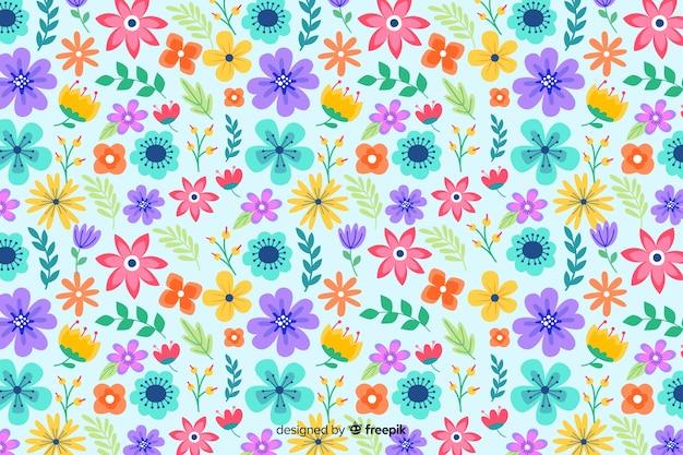 Servindo floral de fundo