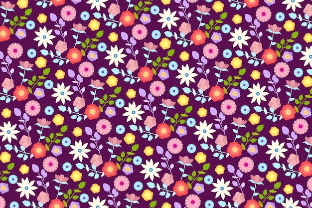 Servindo floral fundo colorido