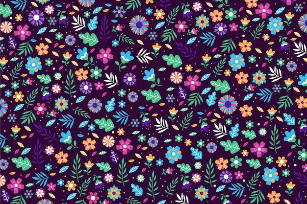 Servindo flores coloridas fundo