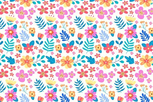 Servindo fundo floral colorido