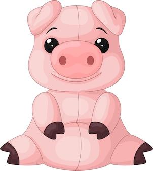 Sessão de desenhos animados de porco bebê fofo